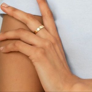 Kendra Scott Rylee Band Ring In 18k Gold Vermeil